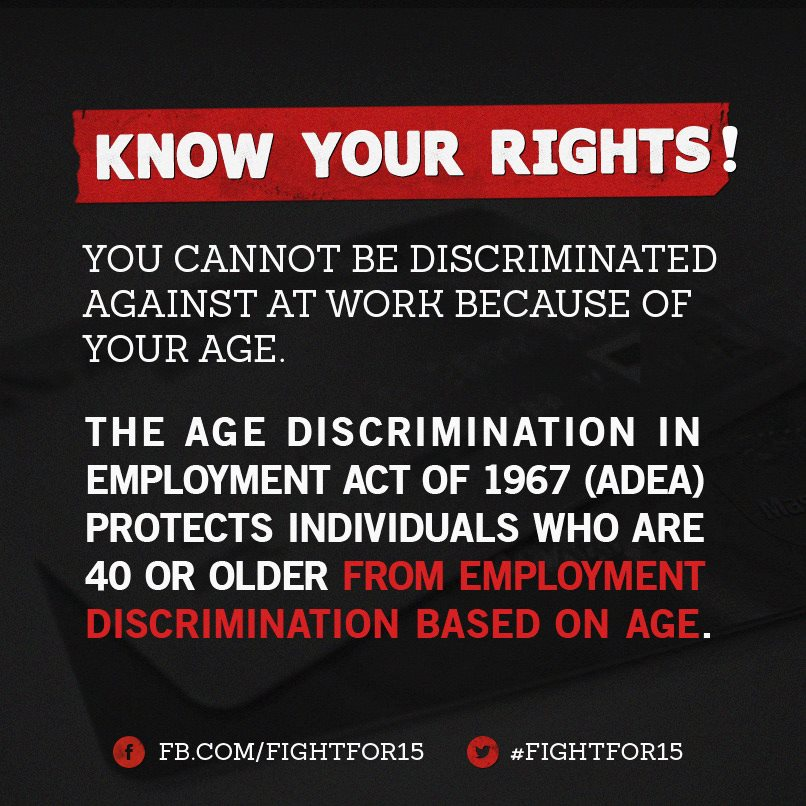 know your rights age discrimination