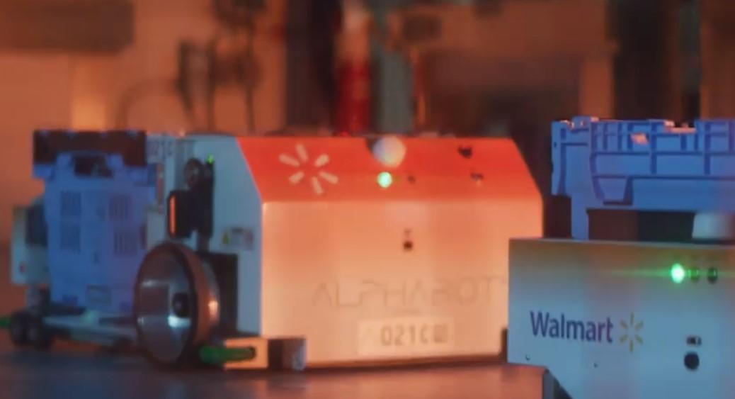 robots working walmart