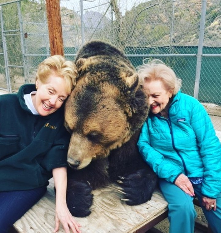 betty white and bear