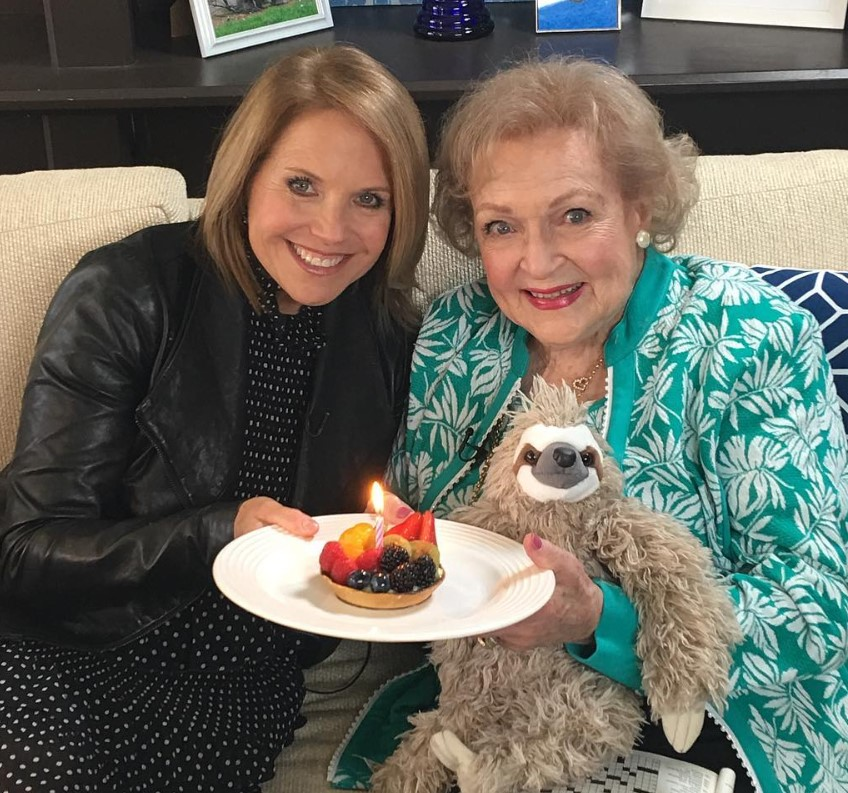 betty white katie couric birthday