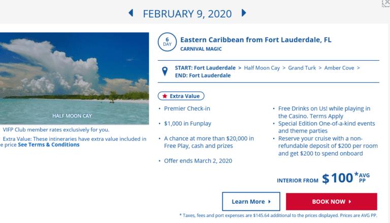 price glitch carnival cruise line pricing