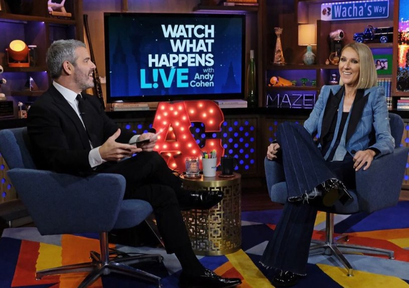 celine dion interview with andy cohen watch what happens live