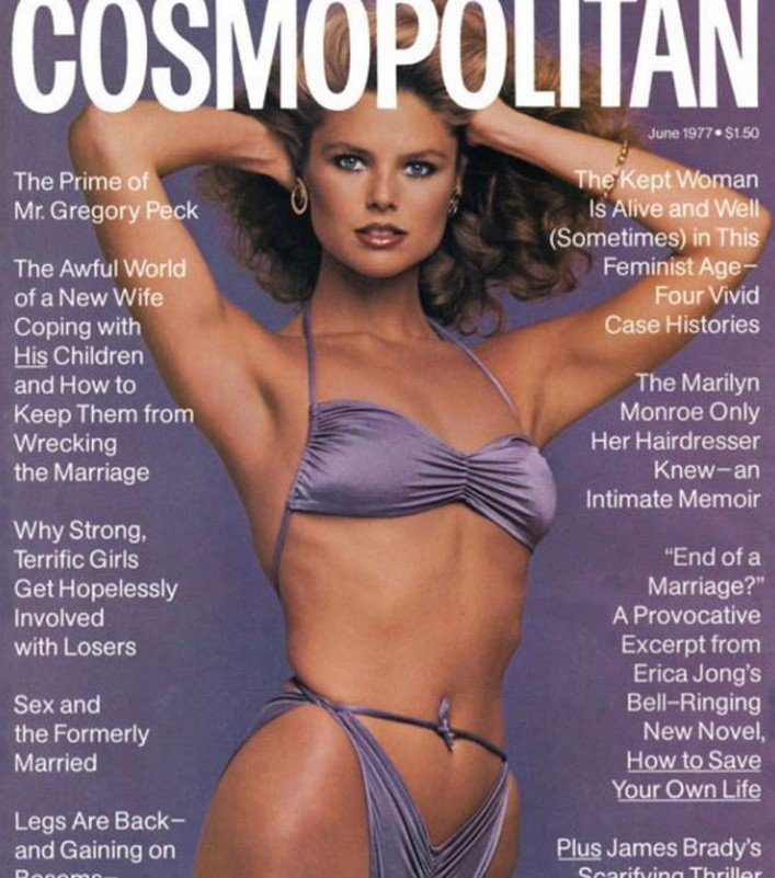 christie brinkley cosmopolitan cover bikini