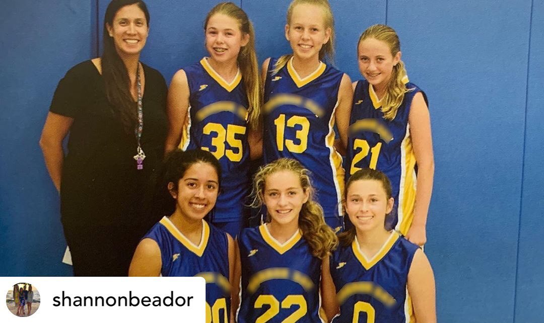 christina mauser and basketball team