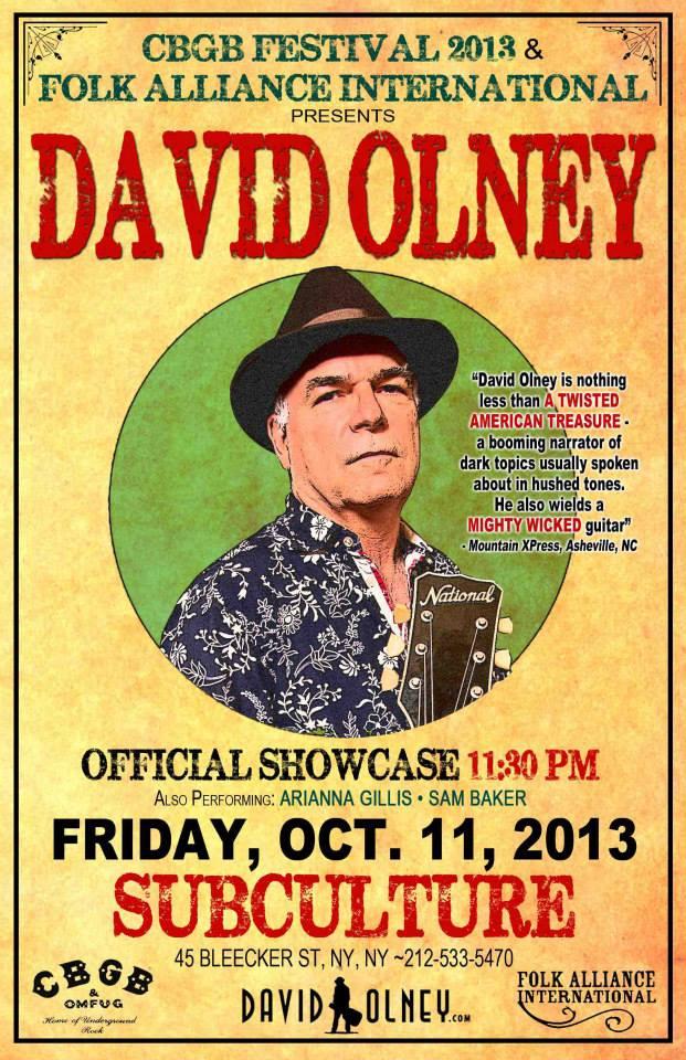 old david olney poster