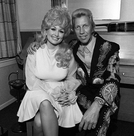 dolly parton porter wagoner black and white photo