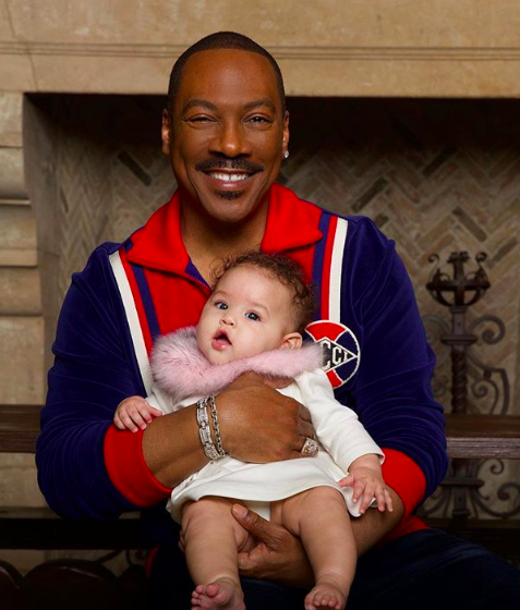 eddie murphy with granddaughter evie during the holidays