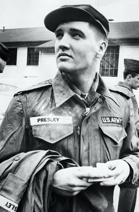 elvis presley rare photos in the army