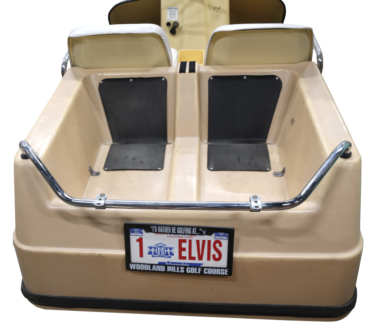 elvis presley golf cart license plate