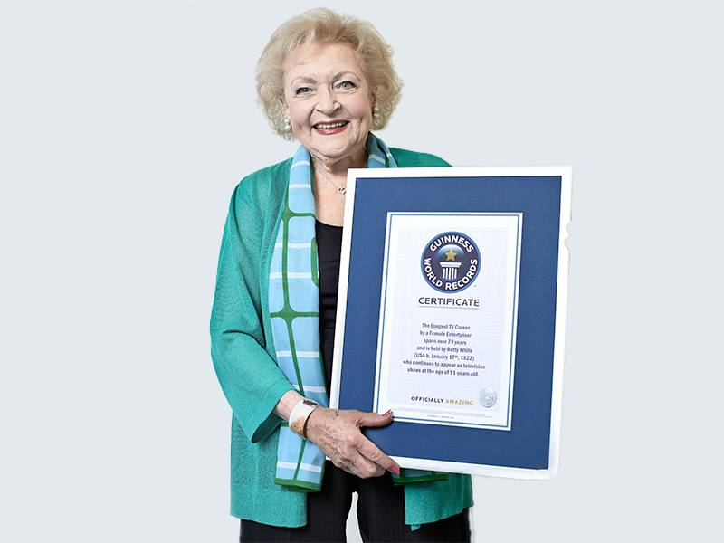 betty white guinness record