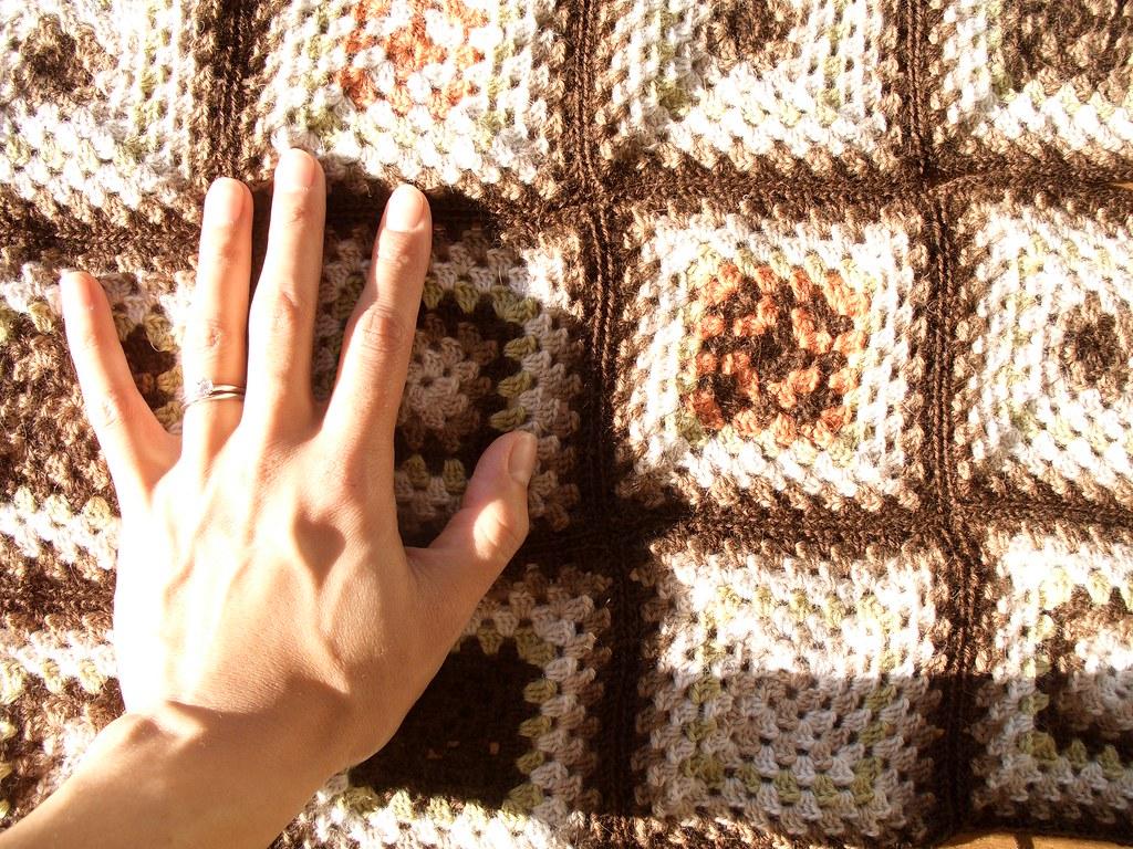 crocheted handmade blanket