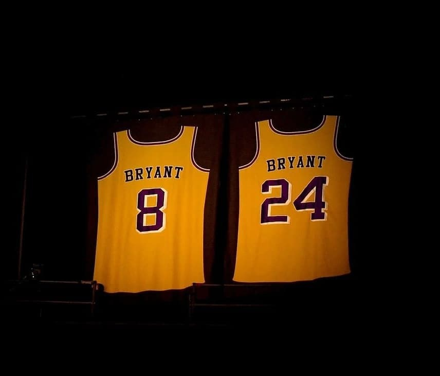 kobe bryant retired jerseys los angeles lakers