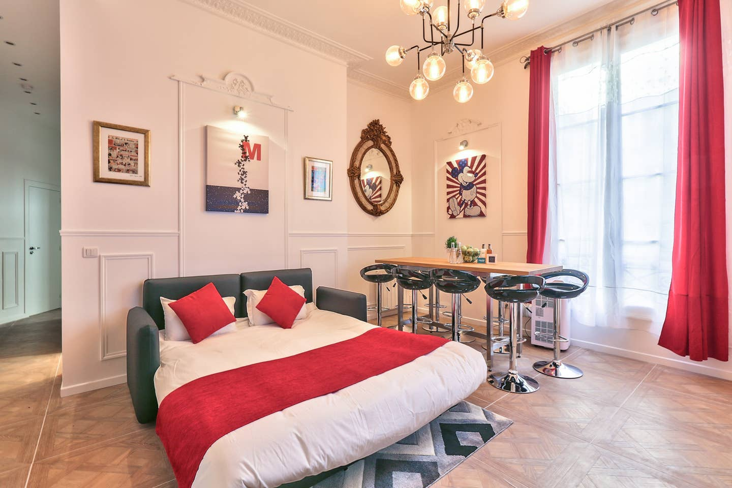 mickey mouse themed airbnb paris france