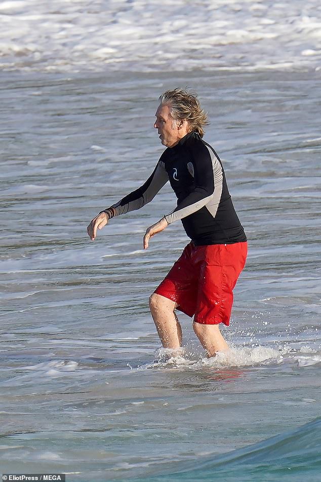paul mccartney nancy shevell in swimsuits st barts