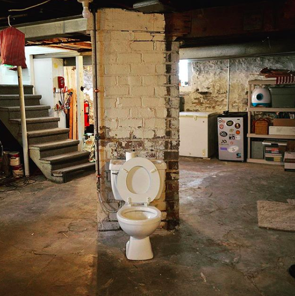 why some homes have random toilets in the basement