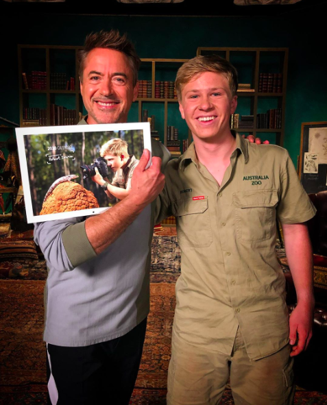 Robert Downey Jr reunites with Robert Irwin