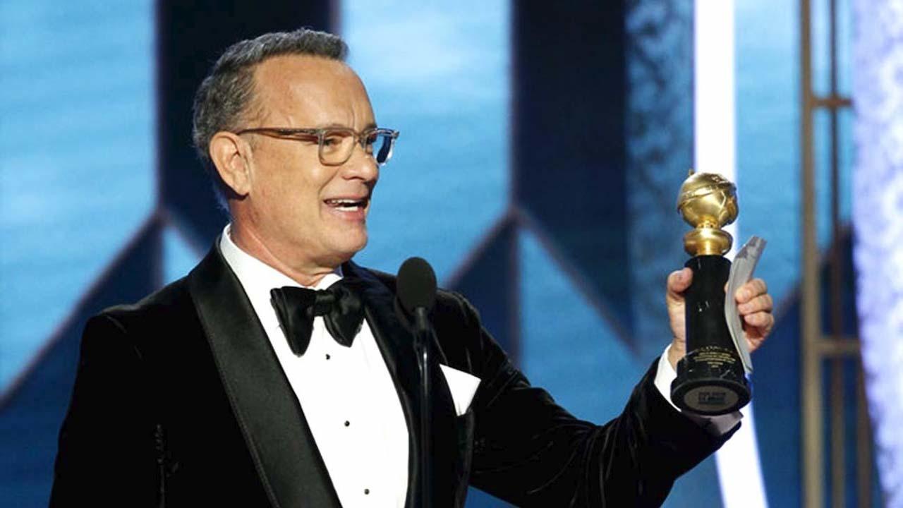 tom hanks chokes up honoring family in golden globes acceptance speech