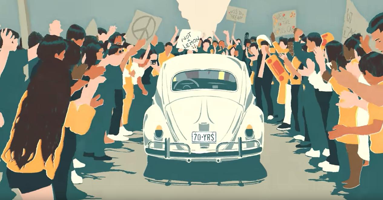 volkswagen beetle commercial