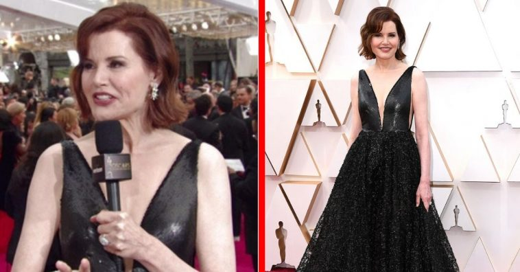 64-Year-Old Geena Davis Rocks The Oscars In Stunning Plunging Gown
