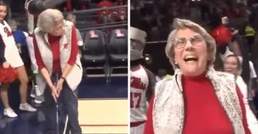 84 year old woman sinks 94 foot putt to win a new car
