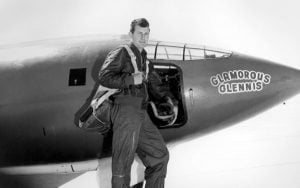 Chuck Yeager and Glamorous Glennis, named after the woman who would be his wife