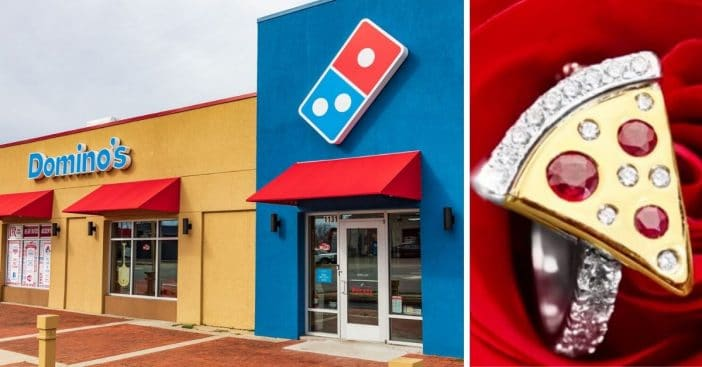 Dominos is giving away a real pizza engagement ring