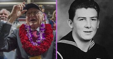 Donald Stratton suffered severe burn wounds but went back to serving as soon as he could