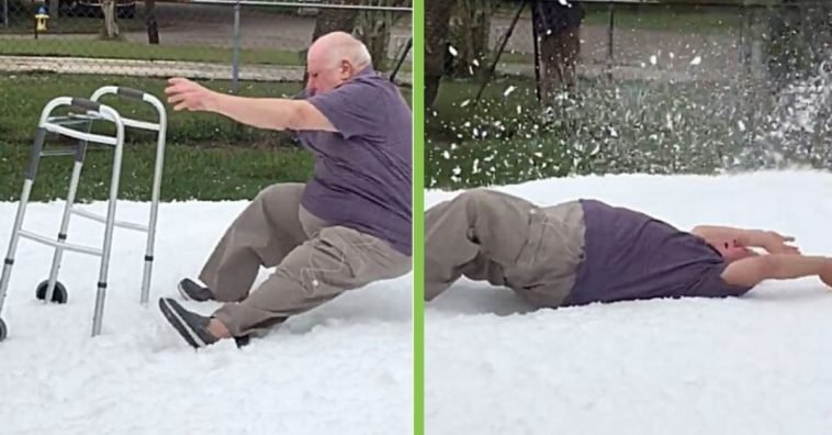 Dying 76-Year-Old Vietnam War Vet Gets His Last Wish Fulfilled Of Making A Snow Angel