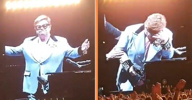 Elton John Tearfully Stops Performance Due To Walking Pneumonia