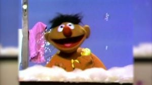 Ernie introduced the world to his friend Rubber Duckie on Sesame Street