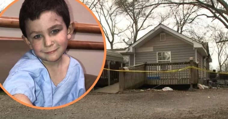 Five year old boy saves family from house fire