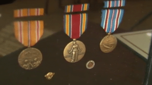 For World War II veteran Thomas Simpson, his medals mean the world to him