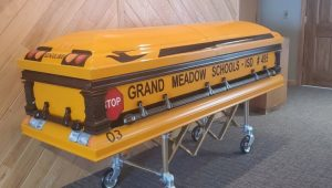 Hindt Funeral Home of Grand Meadow donated a casket to honor the Minnesota bus driver