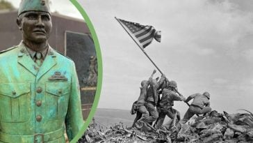 Ira Hayes is immortalized in this famous, award-winning photo
