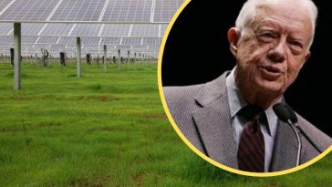 Jimmy Carter powering half of hometown using solar panels