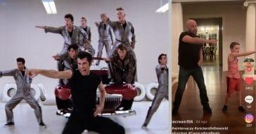 John Travolta Teaches 9-Year-Old Son, Ben, How To Do The 'Greased Lightnin' Dance