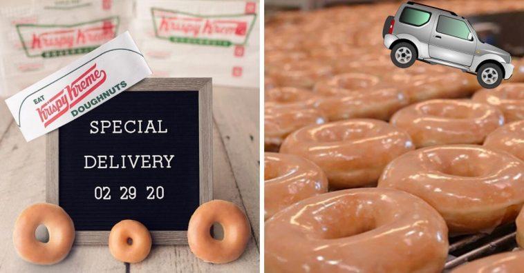 Krispy Kreme is offering delivery nationwide