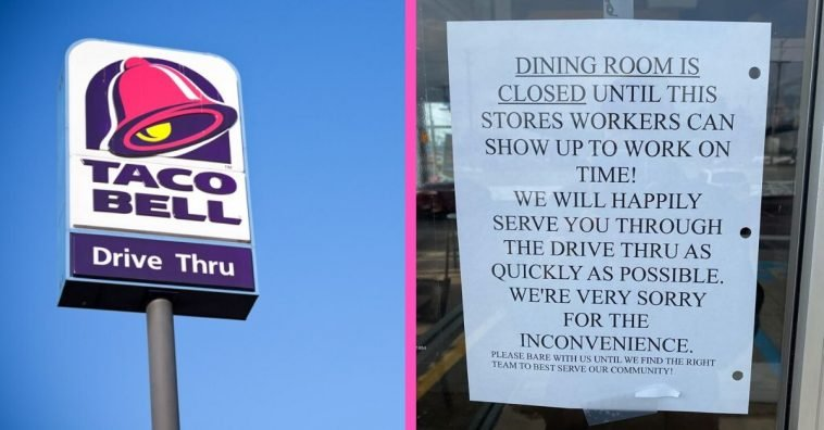 One Taco Bell's sign has gotten people talking