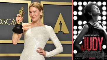 Renee Zellweger wins an Oscar for her performance in Judy