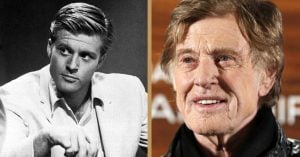 Robert Redford years ago and today