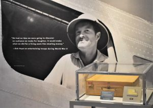 The exhibit features a lot of important items from Bob Hope's life