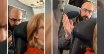 To Recline Or Not Recline_ Flight Passenger Records Man Punching Her Reclined Seat