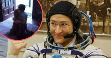 Watch astronaut Christina Koch touching reunion with dog LBD