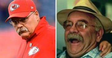 Wilford Brimley jokes that he looks just like Kansas City Chiefs coach Andy Reid