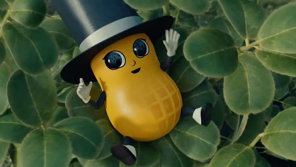 planters mr peanut baby nut super bowl commercial