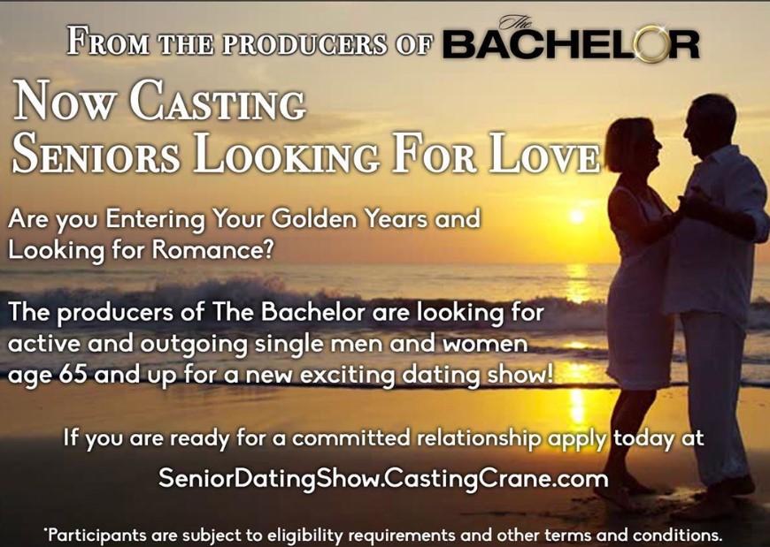 bachelor for seniors casting call