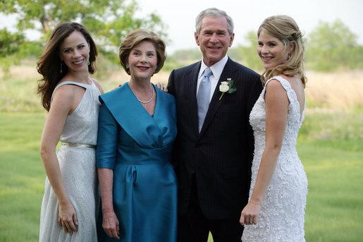 george w bush laura bush barbara jenna bush wedding