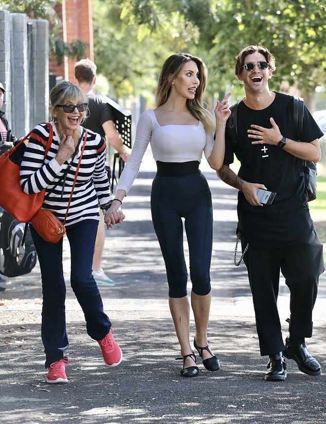 Olivia Newton-John Supports Daughter Chloe Lattanzi At Rehearsals For 'Dancing With The Stars'