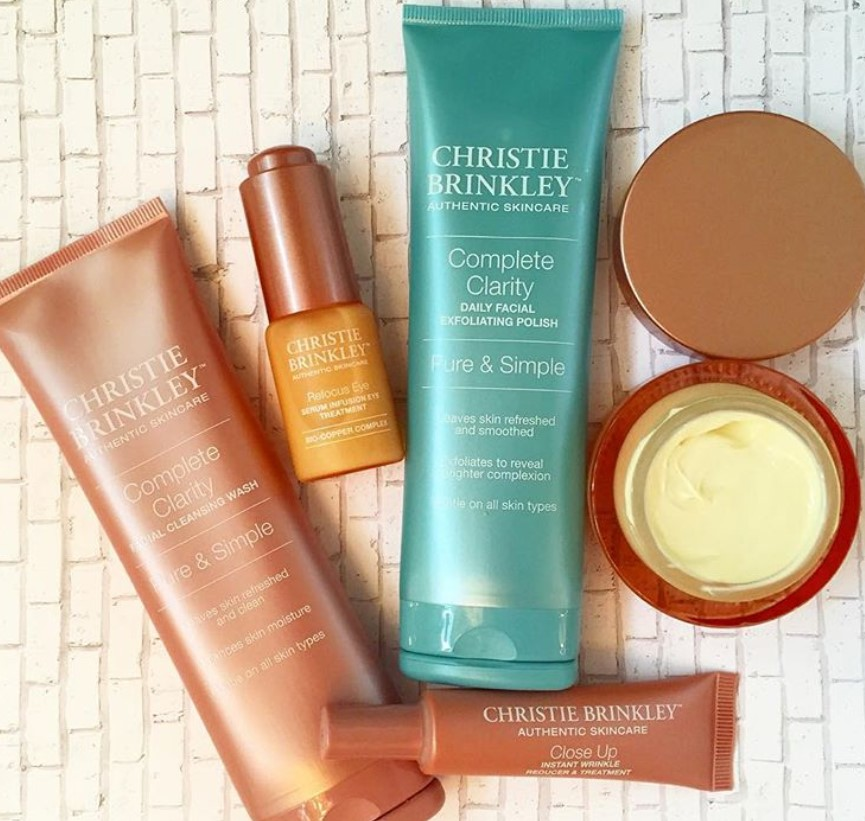 christie brinkley authentic skincare line