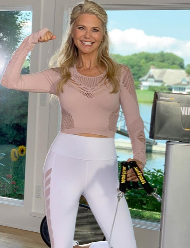 christie brinkley working out